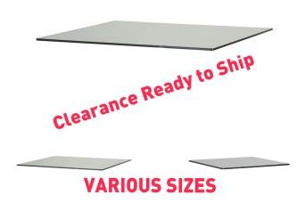 Clearance Glass rectangular panels