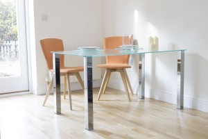 Arctic Glass Dining Table