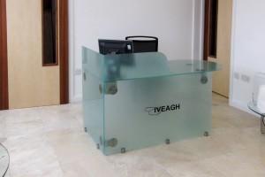 Bespoke Glass Reception Desk