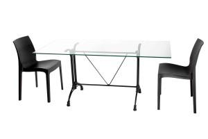 Bridge Glass Dining Table