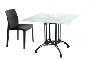 Cast Outdoor Glass Dining Table