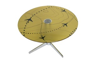 Classic Cross Base Reception Knee Table