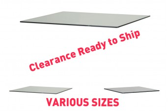 Clearance Low Iron Glass - 1040 x 460mm