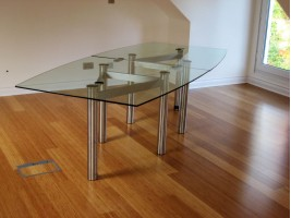 Connect Multi-Piece Glass Dining Table
