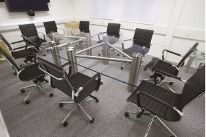 Construct Multi-Piece Glass Conference Table