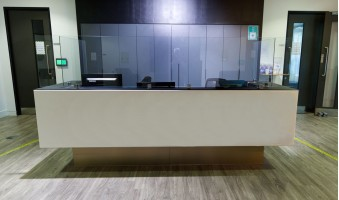 Covid Safe Custom Glass Reception Conversions