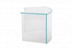 Curved Toughened Glass Hygiene Shield