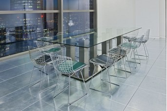 Custom Mirror Based Glass Dining table