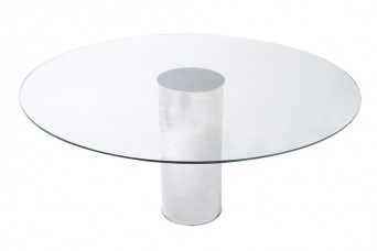 Cylinder Glass Dining Table