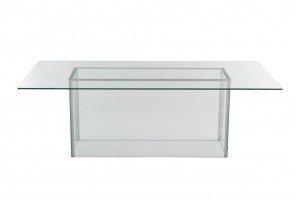 Display Glass Dining Table