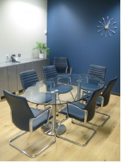Dual Glass Conference Table