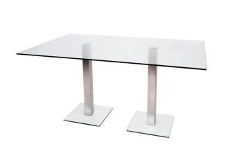 Dual Glass Meeting Table