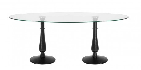 Dual Iron Drip Glass Dining Table