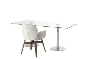 Dual Radius Glass Coffee Table