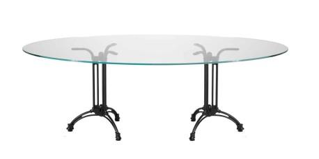 Dual Trillium Glass Table