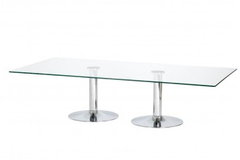 Dual Trumpet Business Knee Table