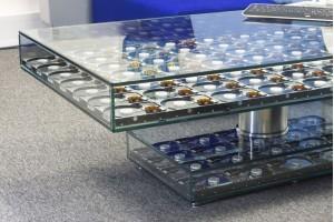 Enclosure Glass Reception Table