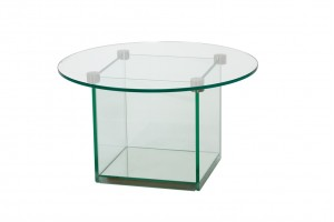 Cube Reception Glass Coffee Table