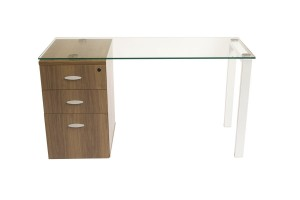 Glass Pedestal Desks For Home Offices