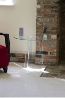 Low Iron 120 Degrees Glass Side Table