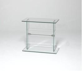 Glass media book stand