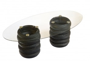 Glass Tyre Table