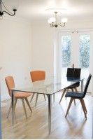 Pin Frame Glass Dining Table