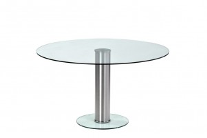 Platform Round Glass Dining Table