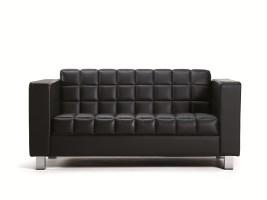 Platinum Detail Stitched Leather Sofas
