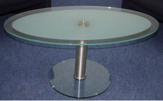 Remote Reception Glass Side Table
