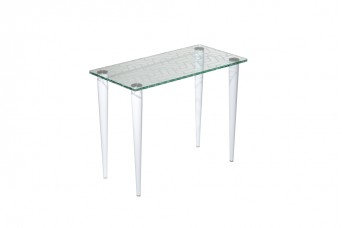 Slender Pin Glass Reception Coffee Table