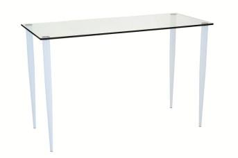 Slender Pin Glass Office Table