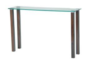 State Glass Console Desk