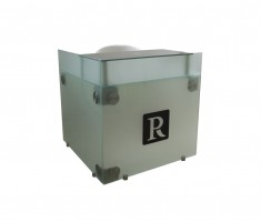 Welcome Glass Reception Desk