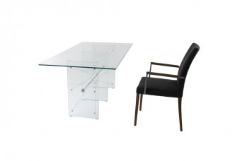 Wire Glass Meeting Table