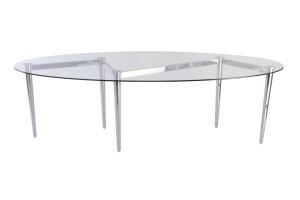 Zig Zag Glass Dining table
