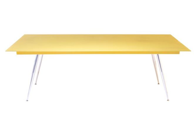 Coloured Glass Frame Dining Table
