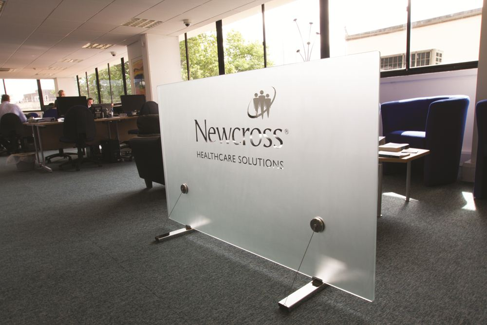 Glass Screening For the Office Or Reception