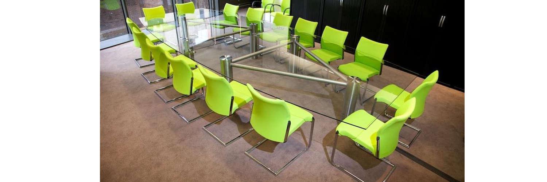 Barrel Shape Glass Boardroom Table