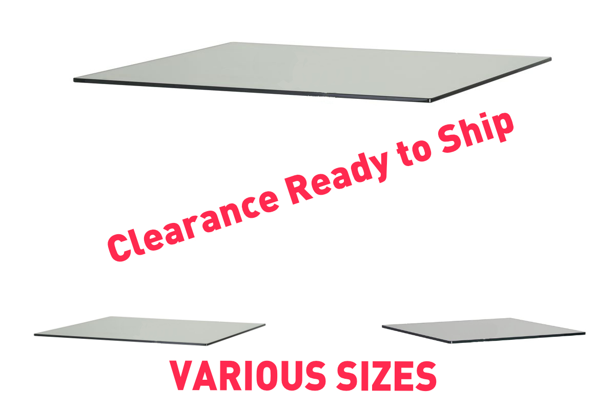 Clearance Clear Toughened Glass - 1200 x 420mm