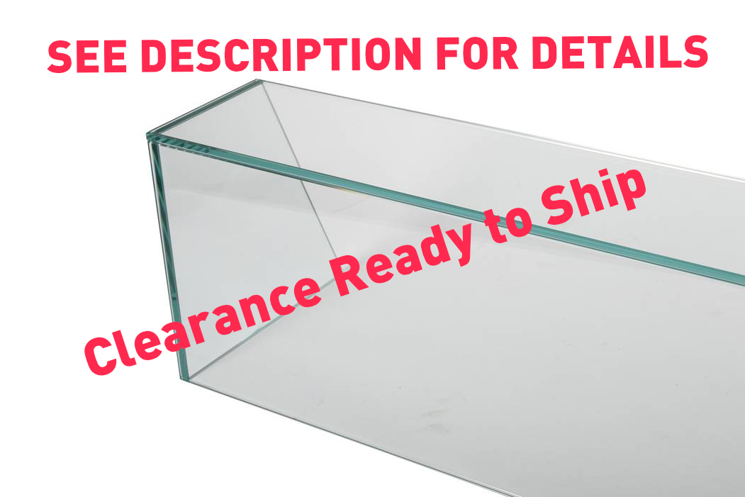 Clearance Sneeze Counter W:1800mm x H:300mm. Angled sides that go from 180mm top to 300mm bottom - Clear Glass