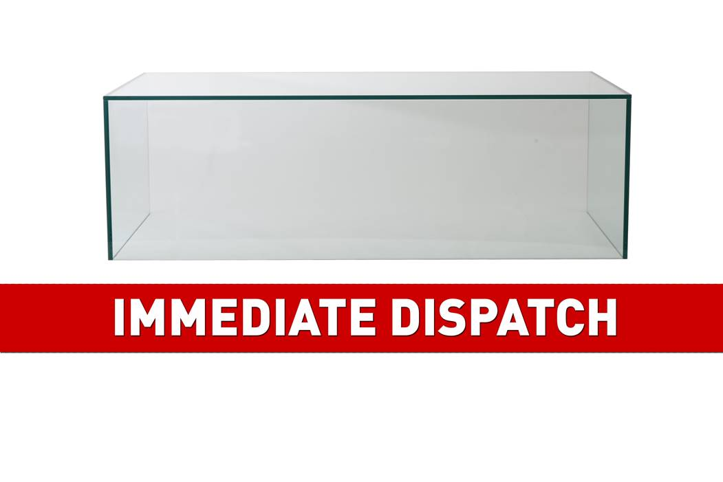 Clearance Sneeze Counter W: 1500mm x D: 500mm x H: 355mm with Rubber Foot - Clear Glass