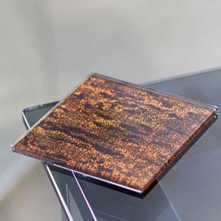 Pattern Backed Fabric Glass