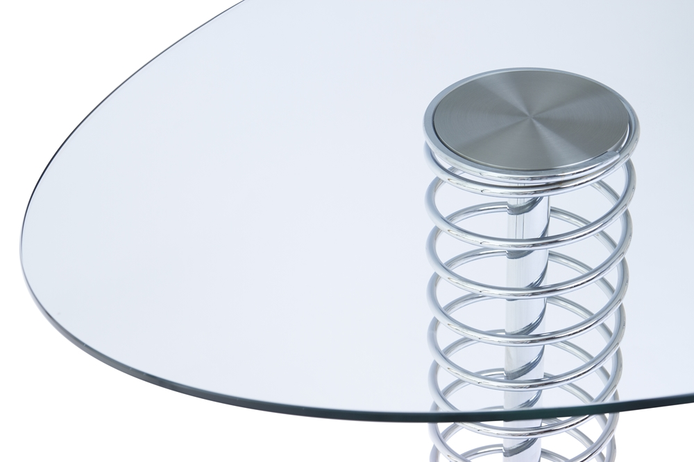 Shaped Glass With UV Bonded Fitting